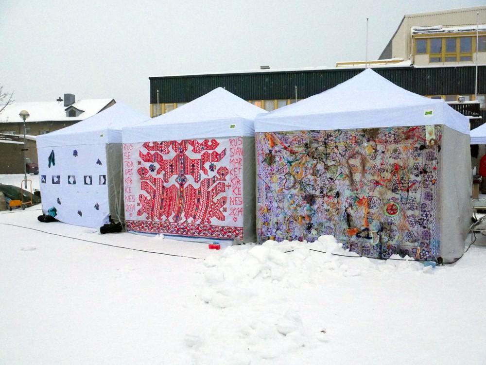 Bazaar -bakside telt -Kirkenes