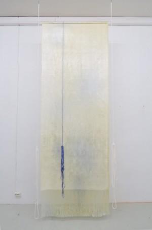 "Aurora Passero, ""Triggers #4"", 2015,  woven, hand dyed nylon, 320 x 120 cm"