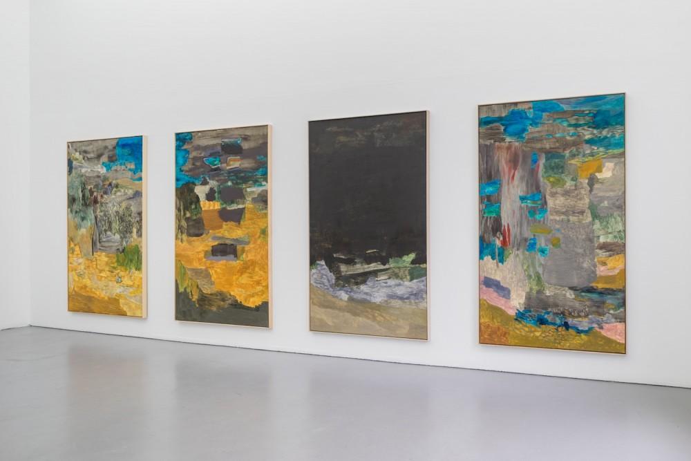 Installasjonsfoto fra utstillingen Andreas Eriksson, Meanderbilder, Galleri Riis. Gjengitt med tillatelse fra Galleri Riss. Foto: Jean-Baptiste Beranger.