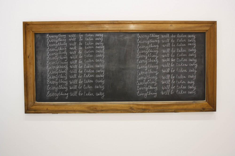 Adrian Piper, Everything Will Be Taken Away 2 (Erasuers), 2003. Gjengitt med tillatelse fra kunstneren.
