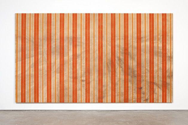 Fredrik Værslev, Untitled (Canopy Painting, Cream and Orange VII), 2012.