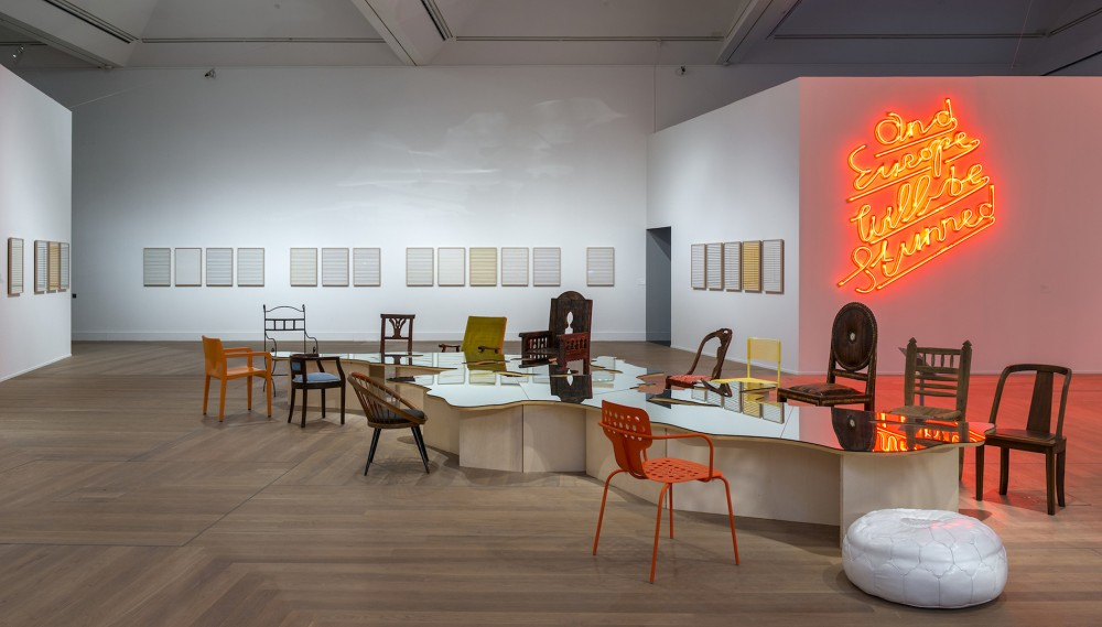 Installasjonsfoto, Efter Babel / Poesin kommer att göras av alla! / 89 plus, Moderna Museet, 2015 © Foto: Åsa Lundén/Moderna Museet