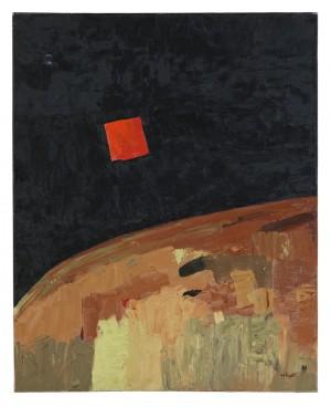 Etel Adnan, Sans titre, 1973. © Etel Adnan. Foto: Moderna Museet / Prallan Allsten