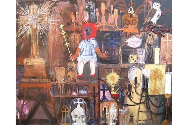 Raynald Driez: Grande Vanité, 2014, Oil on canvas, 200 x 250 cm