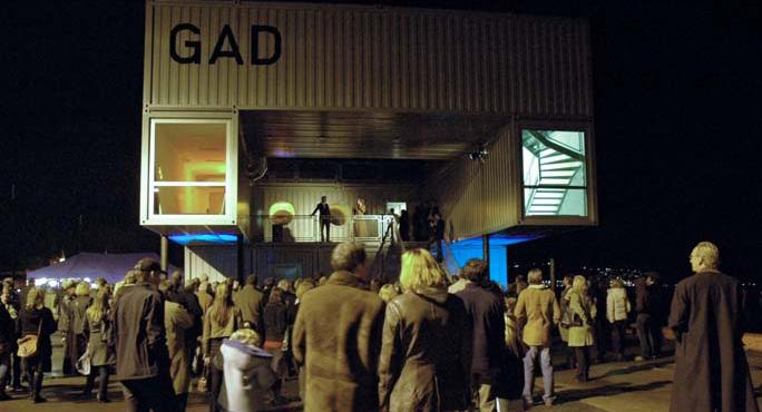 Åpning av Galleri GAD på Tjuvholem i 2005. Foto: Andrá Gli