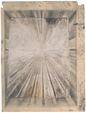 Jay DeFeo, Study for The Rose 1959, graphite and gelatin silver print on paper. © 2015 The Jay DeFeo Trust / Artists Rights Society (ARS), NY. Courtesy of Peder Lund