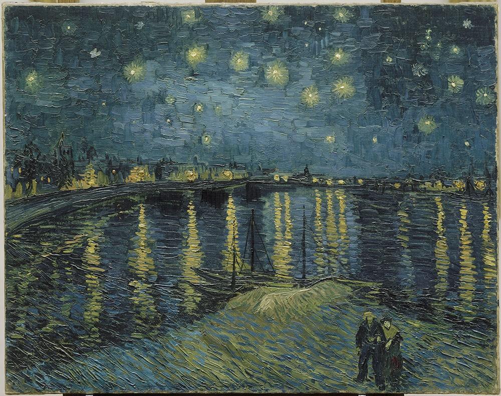 Vincent van Gogh, Starry Night over Rhone, 1888.