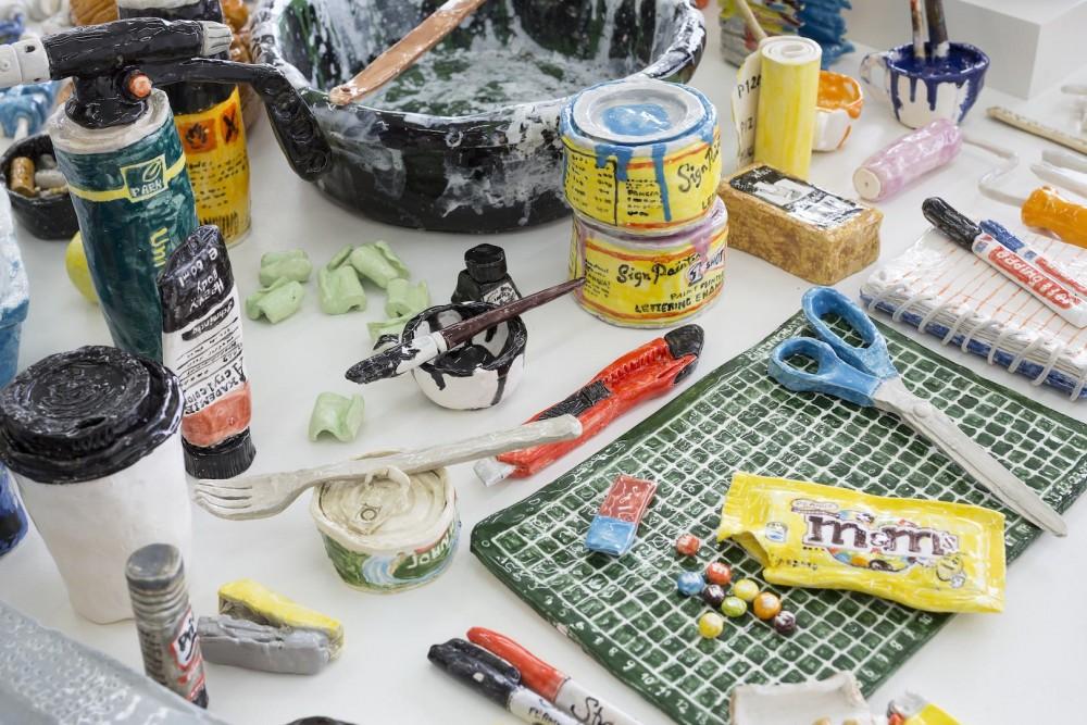 Rose Eken, Tableu, detalj. Gjengitt med tillatelse fra V1 Gallery og Rose Eken. Foto: Jan Søndergaard'