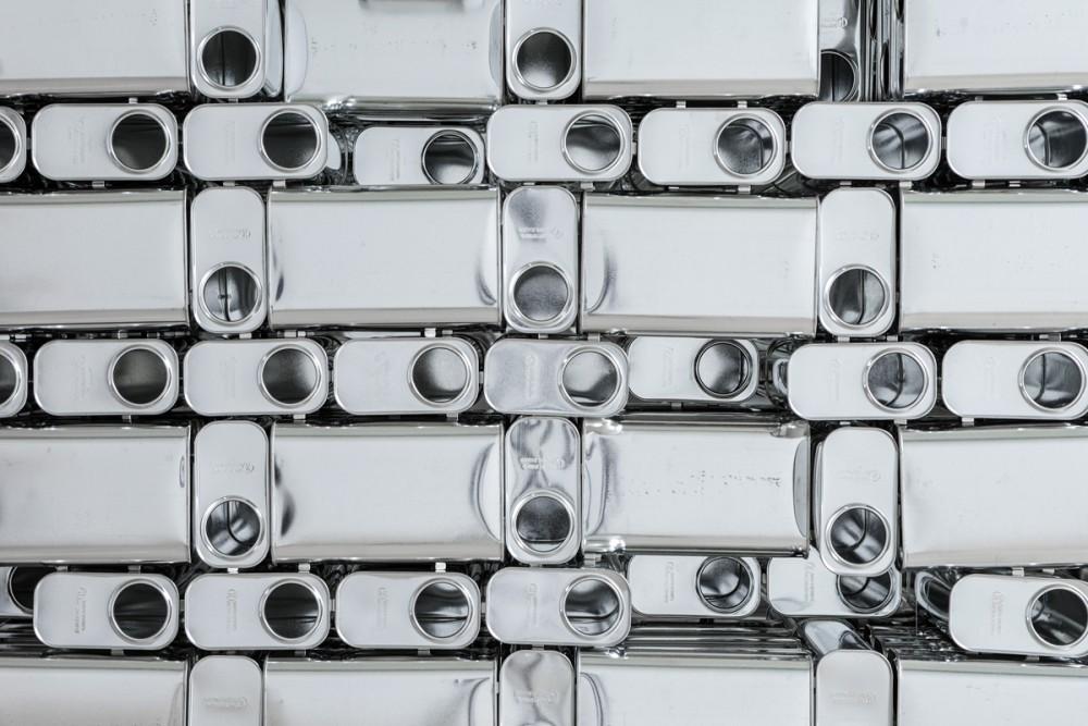 Aernoudt Jacobs, detalj fra Tin Space, 2015. Foto: Tor Simen Ulstein. Courtesy Kristiansand Kunsthall