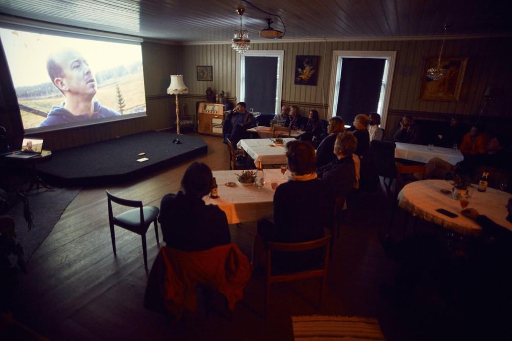 Filmvisning om Jegerlarven av Erik Pirolt. Foto: Erik Berg Johansen