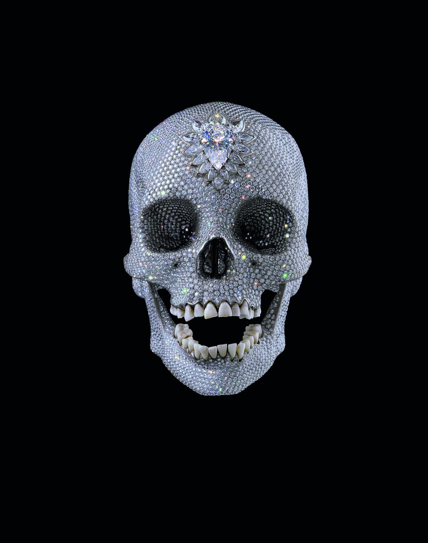Damien Hirst, For the Love of God, 2007. Platina, diamanter og mennesketenner. Foto: Prudence Cuming Associates © Damien Hirst og Science Ltd. Alle rettigheter, DACS 2015