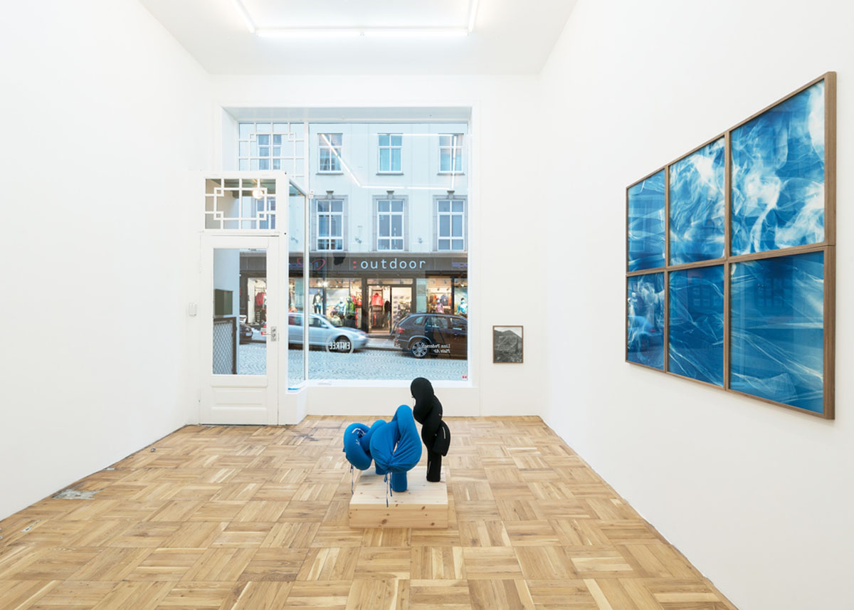 Installation view of Linn Pedersen at Entrée, 2015. Photo Bent René Synnevåg Courtsey Entrée