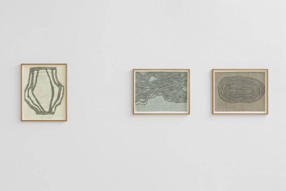 Mette Stausland, MOVING PARTS, 2015, Blyant på papir.