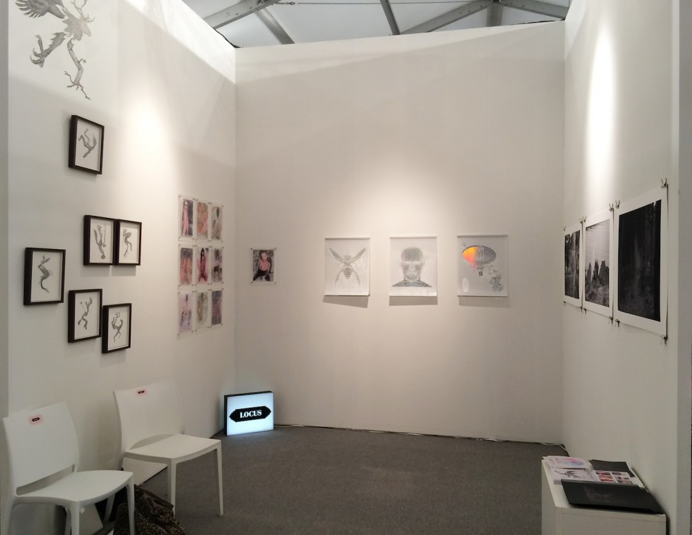 Installation shot of booth at X Contemporary 2015. ©the artists and LOCUS