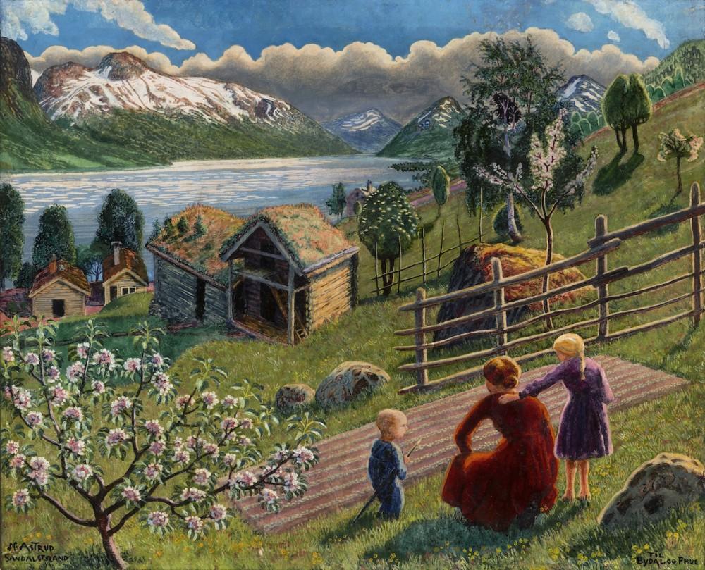 Nikolai Astrup, Sandalstrand, 1927.