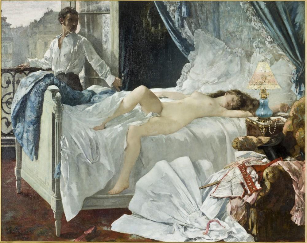 Henri Gervex, Madame Valtesse de la Bigne, 1879 Paris, musée d'Orsay © RMN-Grand Palais (musée d'Orsay) / Hervé Lewandowski