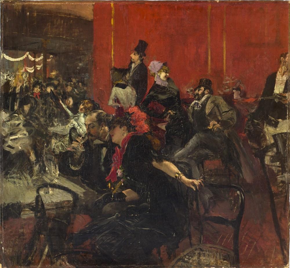 Giovanni Boldini, Scène de fête au Moulin Rouge, ca 1889. Paris, musée d'Orsay © Musée d'Orsay, Dist. RMN-Grand Palais / Patrice Schmidt