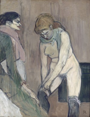 Henri de Toulouse Lautrec, Femme tirant son bas, 1894. Paris, musée d'Orsay © RMN-Grand Palais (musée d'Orsay) / Hervé Lewandowski