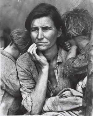 Dorothea Lange, Human Erosion in California (Migrant mother). Munchner Stadtmuseum, Munich Allemagne © Münchner Stadtmuseum, Sammlung Fotografie © Dorothea Lange Collection, Oakland Museum, Oakland, USA