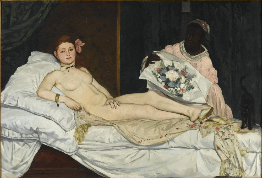 Edouard Manet, Olympia, 1863. Paris, Musée d'Orsay © Musée d'Orsay, Dist. RMN-Grand Palais / Patrice Schmidt