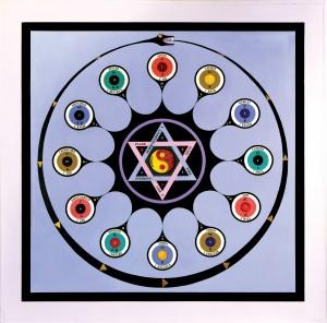 Paul Laffoley, Astrological Ouroboros, 1965. ©Kent Fine Art, New York.